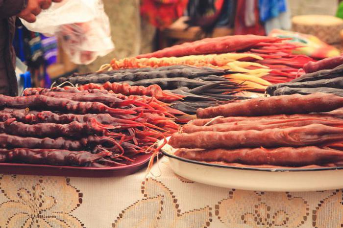 Georgian sweets churchkhela