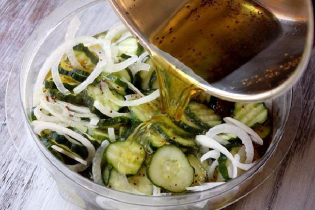 салат из огурцов перезрелых огурцов