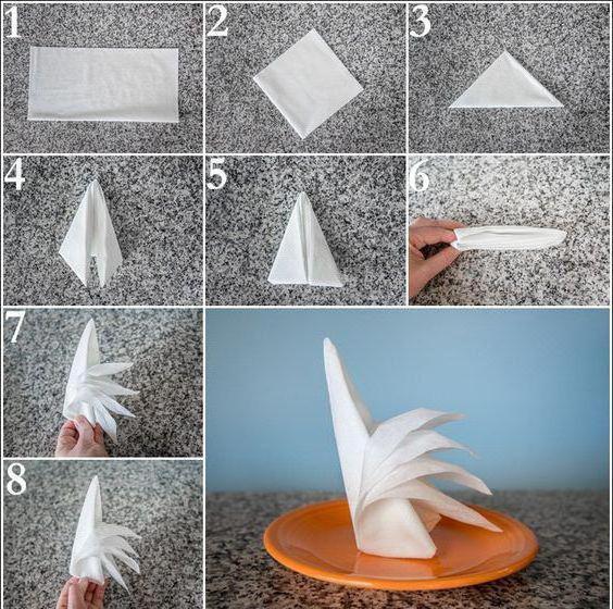 скважин как красиво оформить салфетки бумажные к столу написать