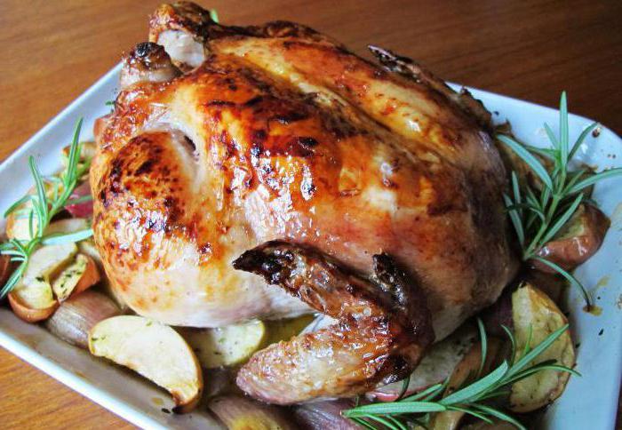 Приготовление курицы в духовке целиком в фольге