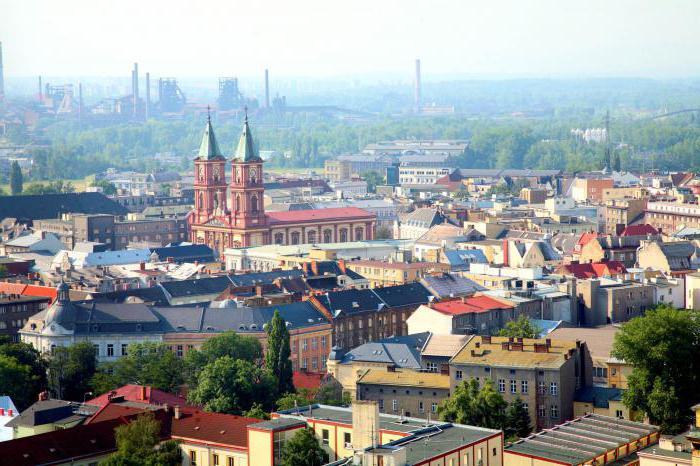 Popular sights of the Ostrava, Czech Republic