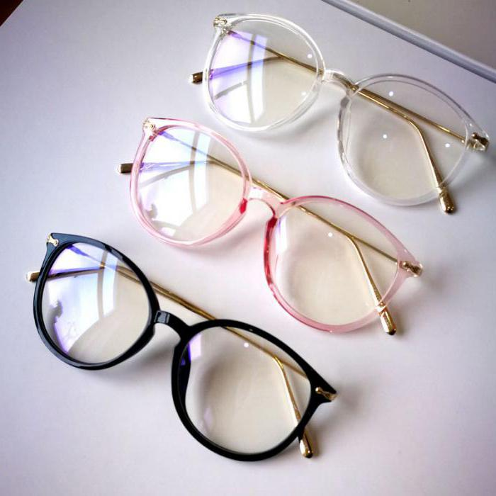 Декоративные очки с прозрачными стеклами
