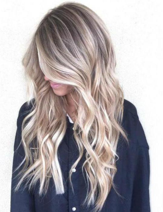 виды окрашивания волос фото с названием цвета