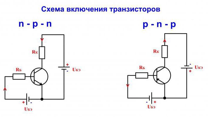 транзисторный ключ 12 Вольт схема