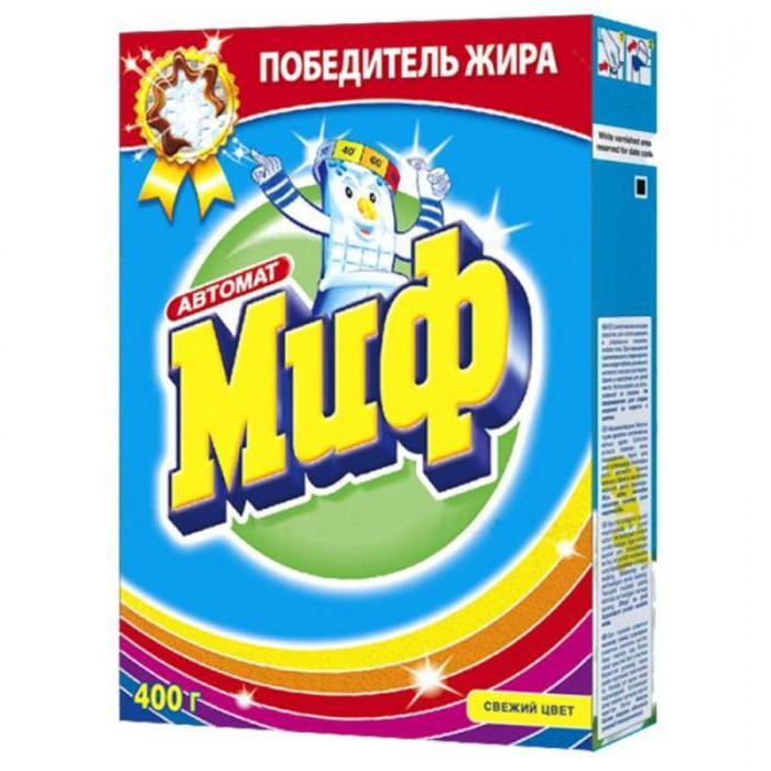 Стиральный порошок Миф: состав, характеристики, отзывы
