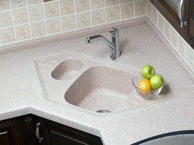 Установка раковины из искусственного камня на кухне своими руками