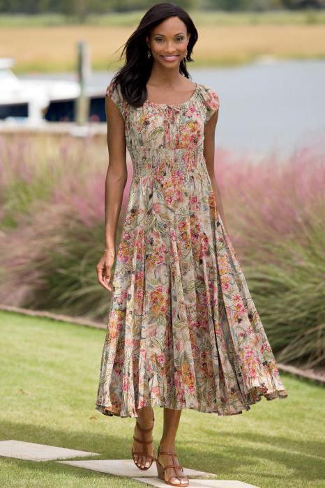платье в стиле крестьянка