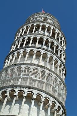 How many degrees leaning Tower of Pisa