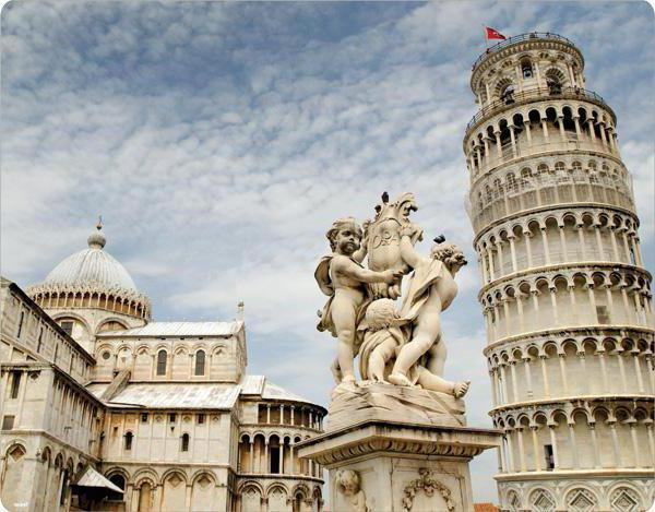 the leaning tower of pisa why is tilted and falls