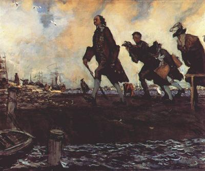 Admiralty in the picture of Peter the Great 1