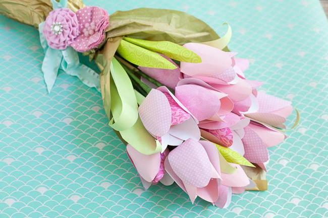 how to make paper a bouquet of flowers