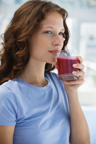 pomegranate juice and pressure