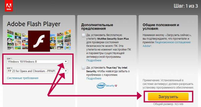 обновить adobe flash player в опере браузере