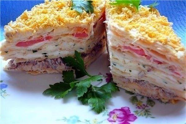 Napoleon layered salad