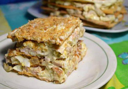 chicken napoleon salad