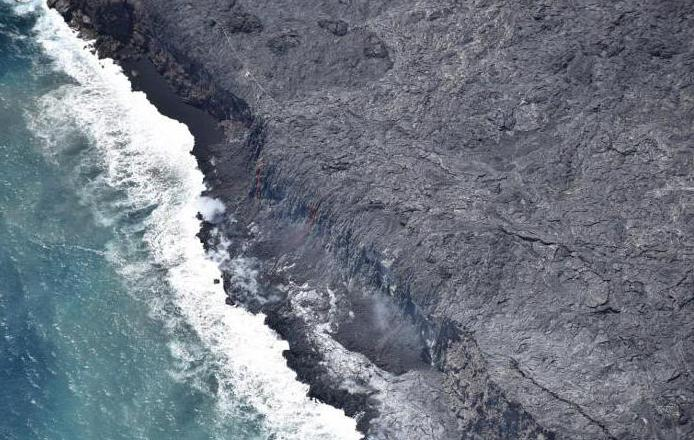 Hawaii began a strong eruption of Kilauea Volcano