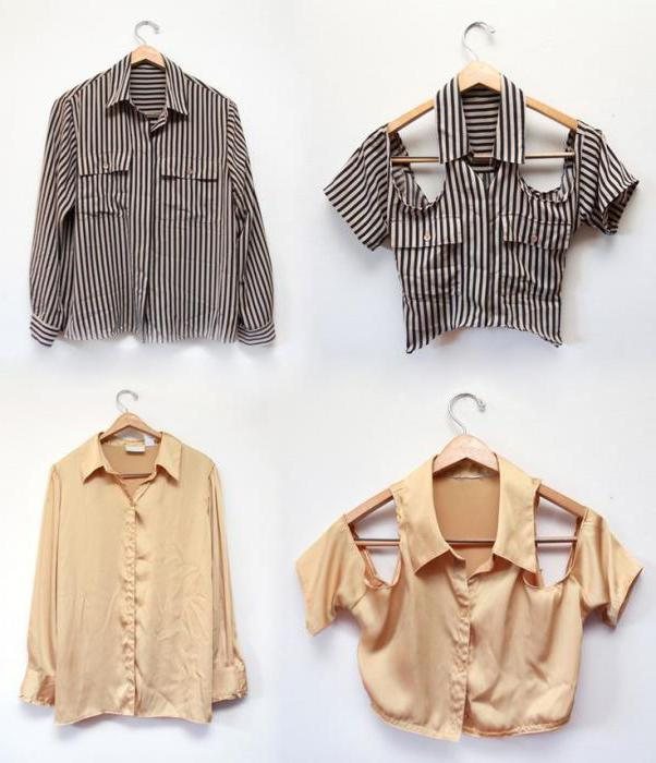 переделка мужских рубашек в женственные блузы