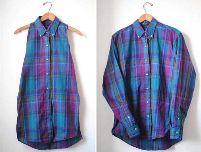 переделка мужской рубашки мастер класс
