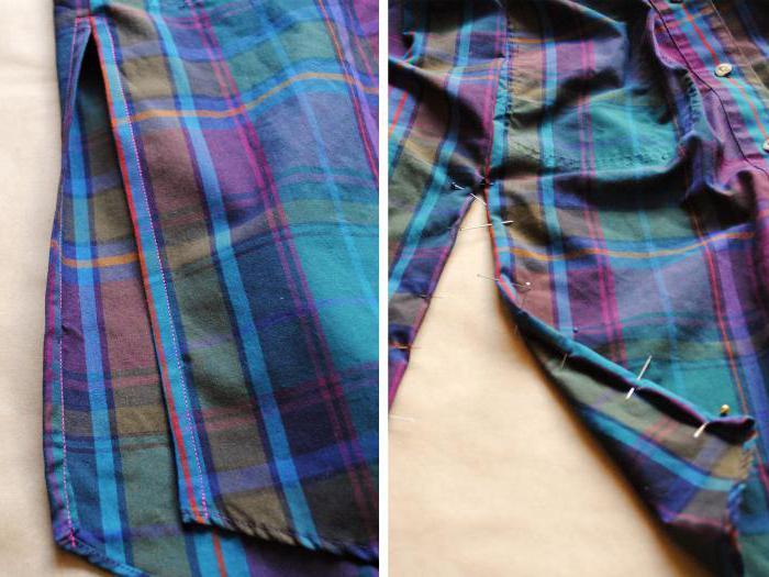 переделка мужской рубашки в женскую блузу
