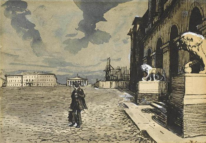 the riot of the little man in the poem the Bronze Horseman