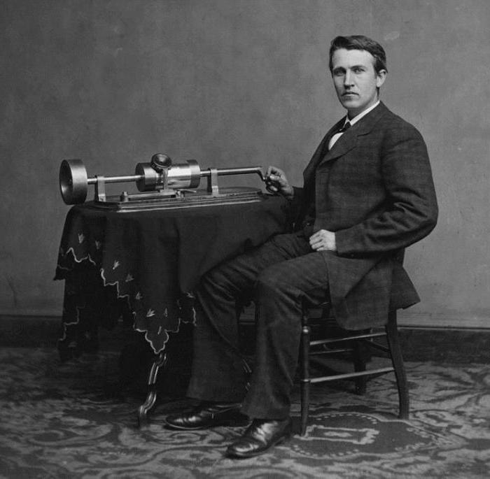 first phonograph