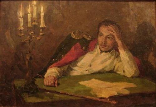 analysis of the lyric work of Lermontov cloud