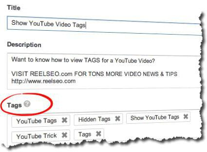 What is a tag in YouTube