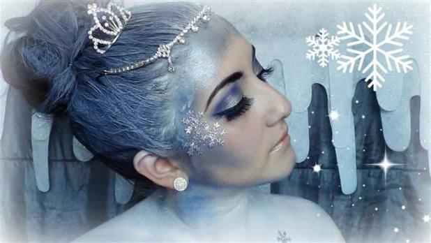 New Year's makeup snow queen