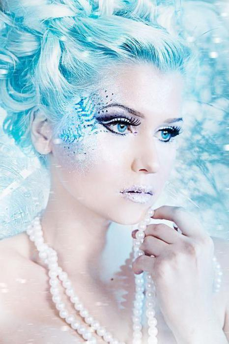 makeup for the snow queen for the new year