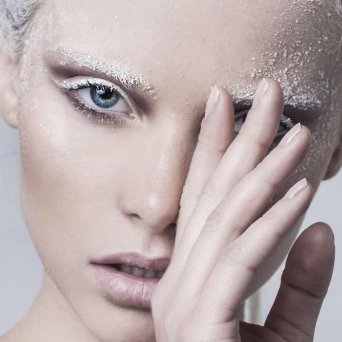 makeup snow queen photo