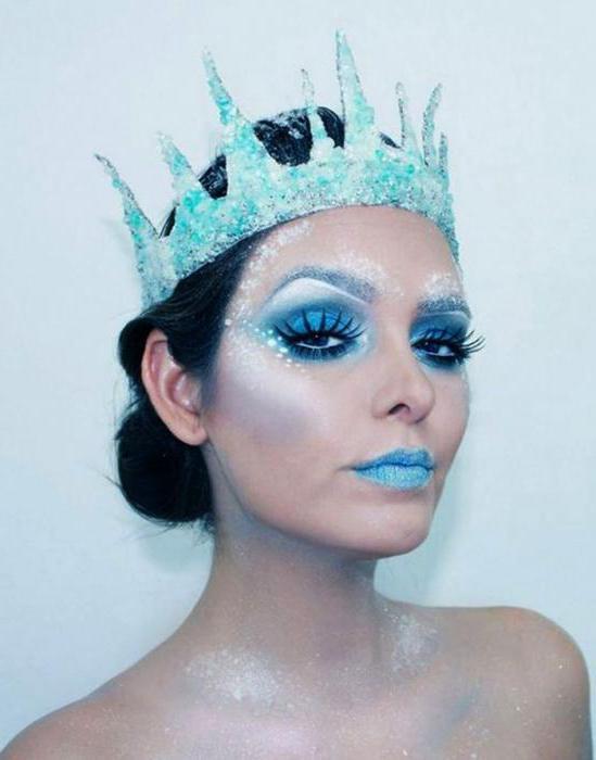 makeup snow queen