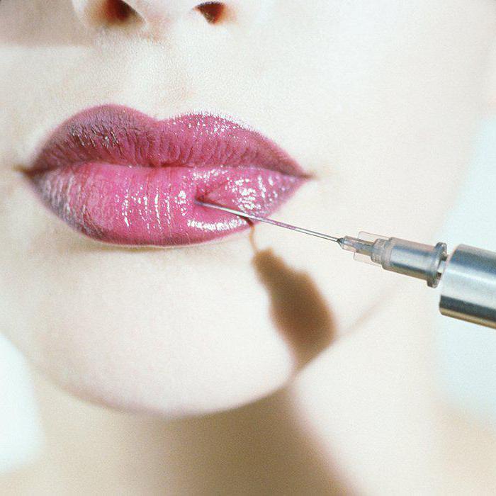 permanent lip makeup in watercolor technique