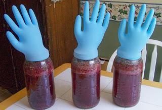 Homemade wine made from fermented jam