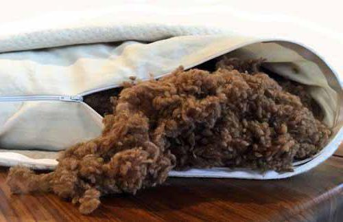 подушка наполнитель верблюжья шерсть