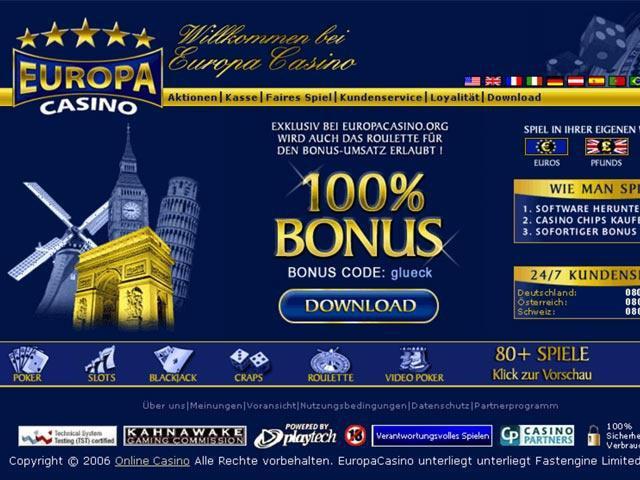 europa casino скачать
