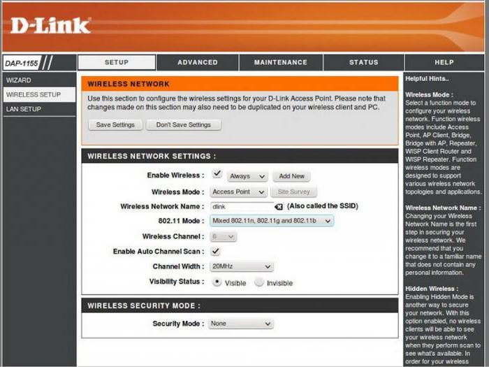 access point d link dap 1155