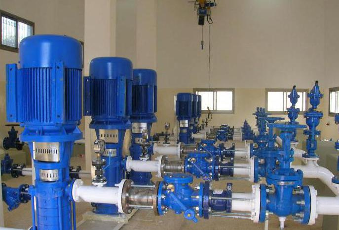 pump for water supply of a private house