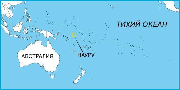 Nauru on the map