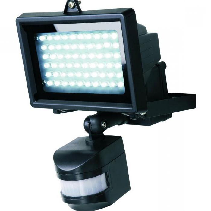 LED spotlight with motion sensor
