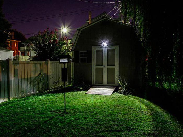 LED floodlight with street motion sensor