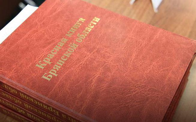 animals of the red book of the Bryansk region