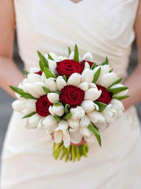 types of wedding bouquets of tulips
