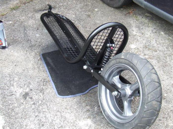 one-wheeled do-it-yourself motorcycle trailer