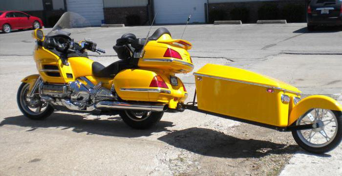 one-wheeled motorcycle trailer