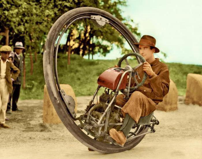 1931 one-wheeled motorcycle