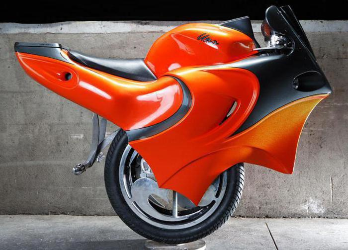 what is the name of a one-wheeled motorcycle