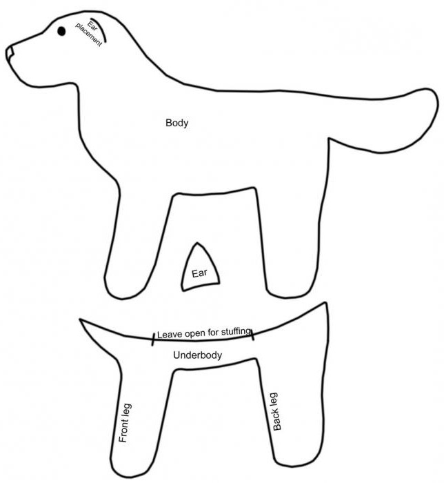 felt dog