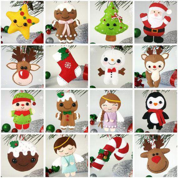 Christmas toys made of felt