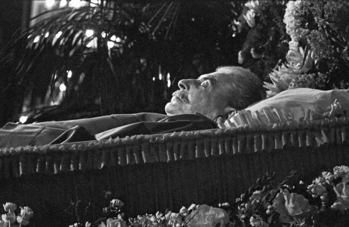 Stalin in the mausoleum