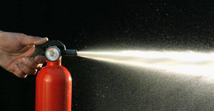 choice of type of fire extinguisher
